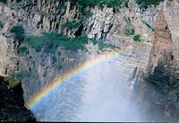 Rainbow above Wilberforce Falls