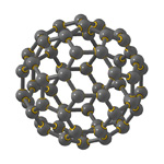 Molecular view of buckminsterfullerene